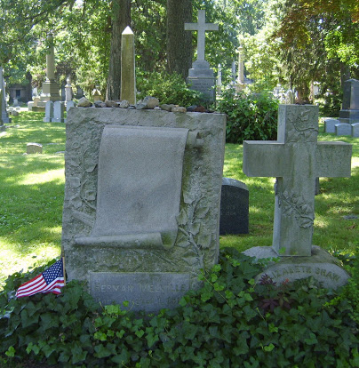 Herman Melville's grave, Woodlawns Cemetery, The Bronx.