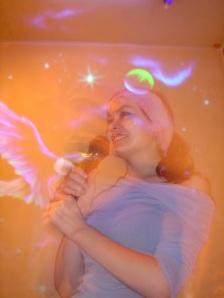 Giving a keynote speech at a Tokyo karaoke bar, circa 2004.