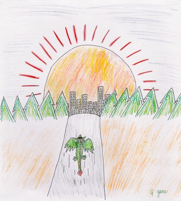 Melvin Arrives at the Far Away City, by Georga Joy Garcia.