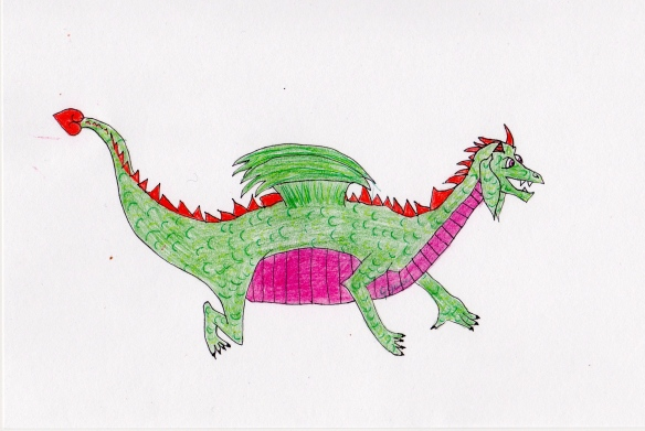 Melvin the Dragon, by Georga Joy Garcia.